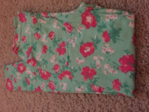 LuLaRoe Pink green white floral Leggings