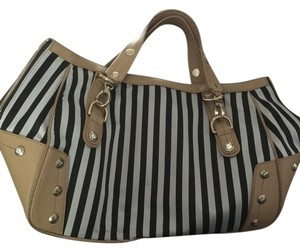 Henri Bendel Tote in brown & white stripe