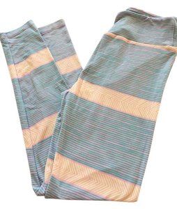 LuLaRoe #stripes multicolor Stripes-blue pink yellow/peach Leggings