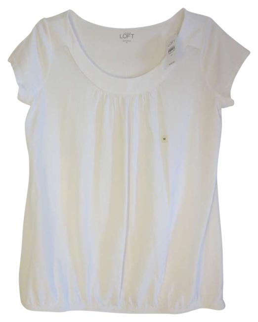 Preload https://item3.tradesy.com/images/ann-taylor-loft-white-tee-shirt-size-8-m-197712-0-0.jpg?width=400&height=650
