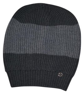 Gucci NWT GUCCI INTERLOCKING GG WOOL KNITTED BEANIE SKY HAT SZ ONE SIZE