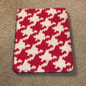 Lands' End Houndstooth Print Needle Point iPad Case