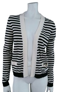 Chanel Symmetrical Striped Contrast Viscose Cardigan