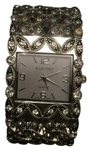 Ellen Tracy Bangle Watch With Gem Stones