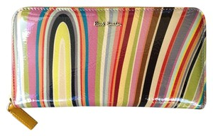 Paul Smith Patent Leather Multi-Colored Swirl Wallet