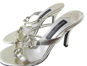 Jennifer Moore Glitzy Glamiour Both Colors Mixed Sandal Type Wedding Jeans Dressy Or Casual Special Event Dancing Dinner New With Tag Silver and Gold Formal