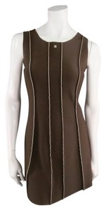 Chanel short dress Brown Scuba Stretch Archives Cc on Tradesy
