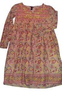 Lucky Brand short dress Pinks, blue, yellow and red Floral Cotton Girls on Tradesy