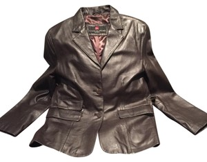 Luis Alvear Barcelona Deep Brown Leather Jacket