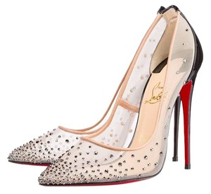 Christian Louboutin Nude and Black Pumps