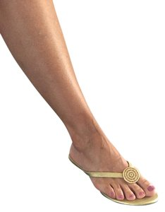 Yellow Box gold Sandals