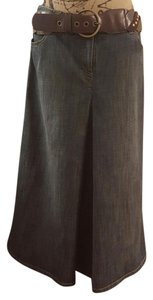 Michael Kors Jean Long A-line Maxi Skirt