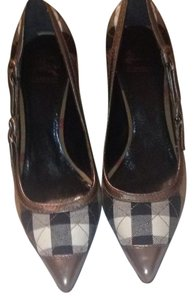 Burberry Peweter & nova check Pumps
