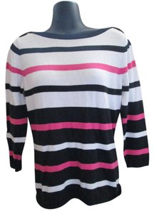 Chaps Fall Autumn Striped Cotton Sweater