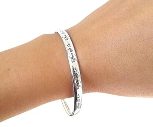 Tiffany & Co. Tiffany & Co Script Notes Bracelet Bangle Sterling Silver