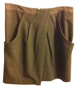 Banana Republic Pleated Skirt Forest Green