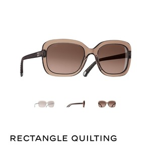 Chanel Chanel Rectangle Quilting Sunglasses.