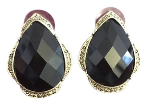 Vintage Inspired Black and Gold Earrings