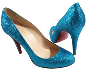 Christian Louboutin Blue Turquoise Pumps