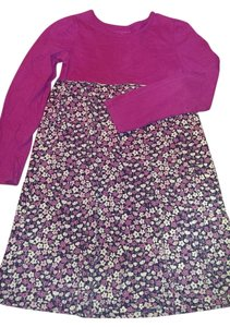 L.L.Bean short dress Pinks, navy blue and white Ll Bean Floral Pink on Tradesy