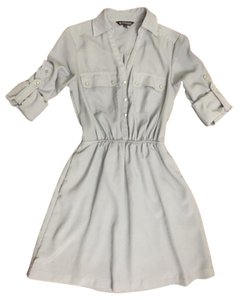 Express Shirt Grey Tunic Dress