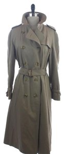 Burberry Nova Plaid Lined Trench Trench Coat