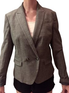 Ann Taylor LOFT Fitted Charcoal Grey Blazer