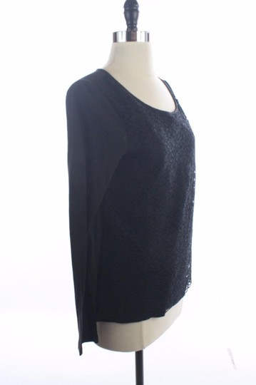 Ann Taylor Black Lace Long Sleeve Shirt Tshirt Size Small Top 60%OFF