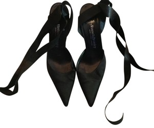 Russell Bromley London Black Satin Pumps