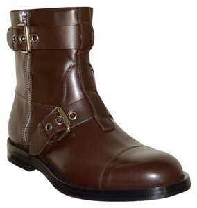 Gucci Leather Ankle Mens Mens Brown Boots