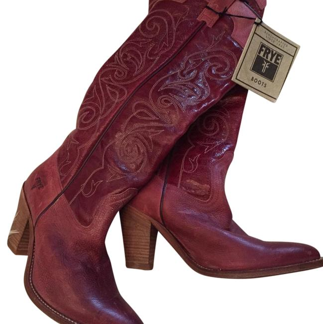 Item - Red Cowboy Boots/Booties Size US 8 Regular (M, B)