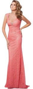 Tony Bowls Designer Evening Evening Gown Evening Lace Dress