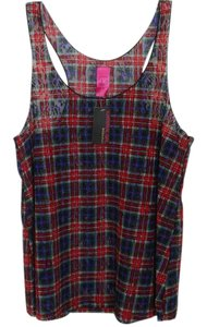 Material Girl Intimates Plaid Top Multi-color