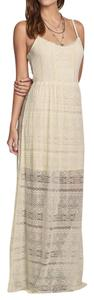Ivory Maxi Dress by Hollister Lace Beach Street Boho Bohemian
