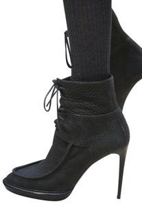Burberry Prorsum Suede Ankle Black Boots