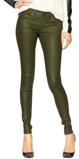 Item - Platoon Army Green Coated Absolute Legging Wax Skinny Jeans Size 25 (2, XS)