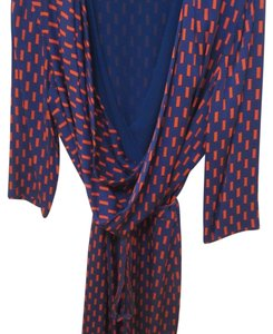 Diane von Furstenberg short dress Blue and Orange on Tradesy