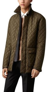 Burberry Mens Quilted Leather Pea Coat