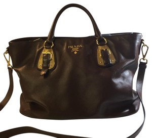 984f4efbe2568c Added to Shopping Bag. Prada Satchel in Bruciato. Prada - Bn1902 Bruciato Soft  Calf Leather Satchel