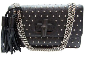 Gucci Handbag Miss Bambo Studded Tassel Shoulder Bag