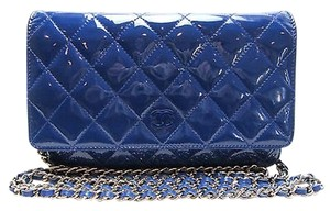 Chanel Woc Wallet On Chain Patent Woc Patent Wallet Cross Body Bag