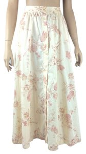Ralph Lauren Floral Long Skirt peach/pink multi