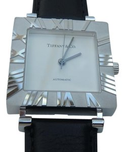 Tiffany & Co. Mens XL Square automatic Atlas Watch in Sterling Silver