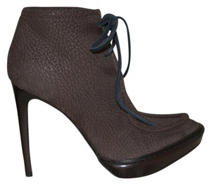 Burberry Prorsum Suede Ankle Taupe Boots