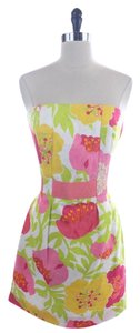 Lilly Pulitzer Floral Strapless Cocktail Size 6 Dress