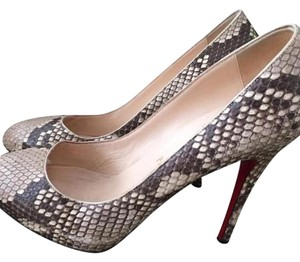 Christian Louboutin Beige/ brown snake skin Pumps