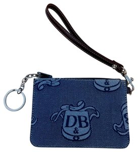 Dooney & Bourke Wristlet in Blue/Brown
