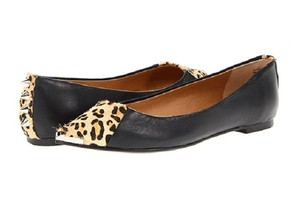 Chinese Laundry Spike Animal Print Black Leopard Flats