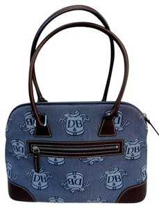 Dooney & Bourke Satchel in Blue/Brown
