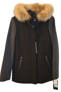 Marc New York Fur Coyote Fur Wool Pea Coat